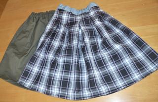 タックスカートとギャザースカート