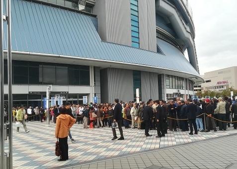 8 京セラドーム へやって来た 応援者多し