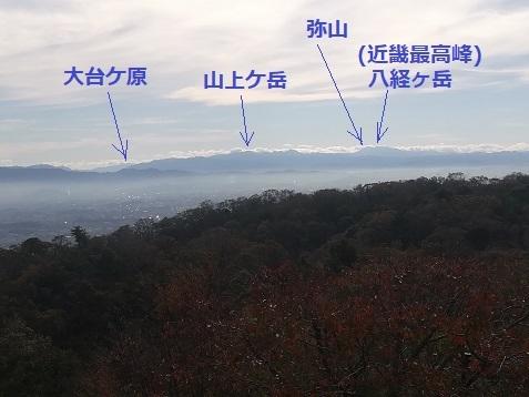 6 南側 大峰山系
