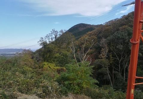 15 丸い頭の明神山テッキ付近