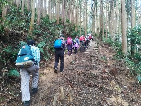 7 登山道を行く、 飯盛山頂上までもう少し