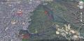 28 12月例会め飯盛山コース図 グーグルマップ 大