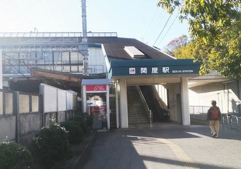 16 近鉄・大阪線の関屋駅へ到着
