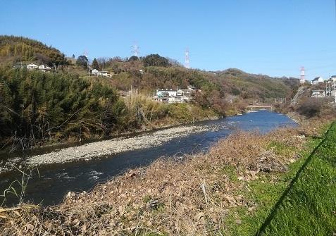 9 大和川と後方JR河内堅上駅
