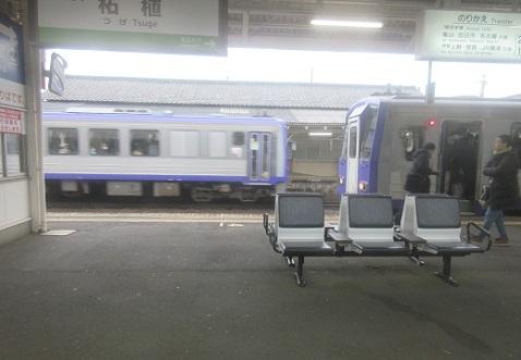 4 柘植駅へ到着 乗り換え