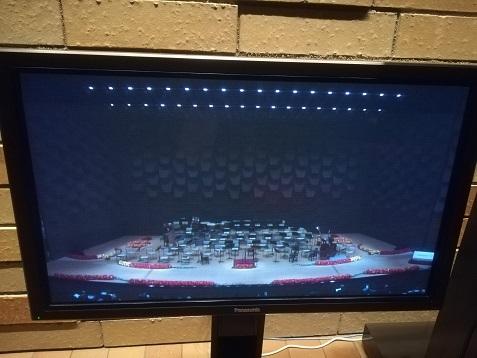 5 ステージのTVモニター