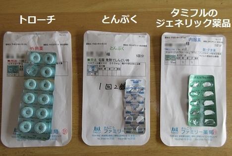 1 タミフルのジェネリック医薬品