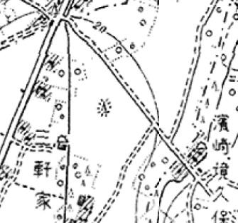 05 今昔マップon the webより明治39年 2万分の1「志木」(部分)