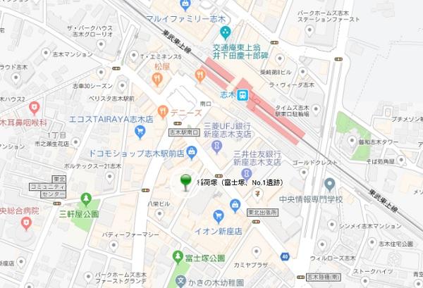 稲荷塚跡地図