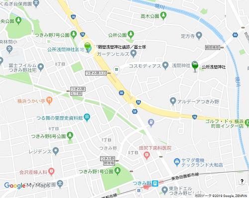 公所浅間神社地図