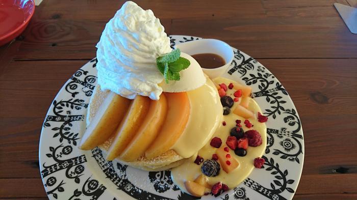 りんごとカスタードのパンケーキ3