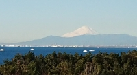 年末の富士山