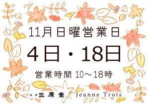 11月日曜営業日_convert_20181027170021