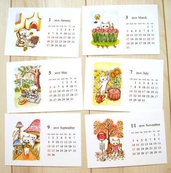 卓上カレンダー2019_2