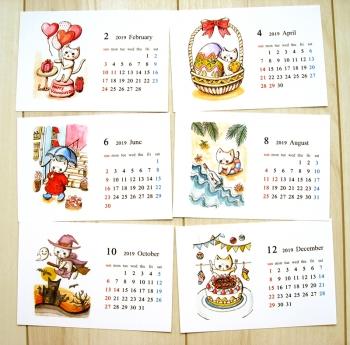 卓上カレンダー2019_3