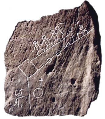 ホピ族ロードプランの岩絵