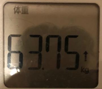 190128月正月明けの体重