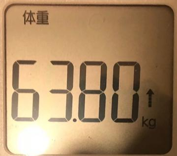 190211木曜63kg超