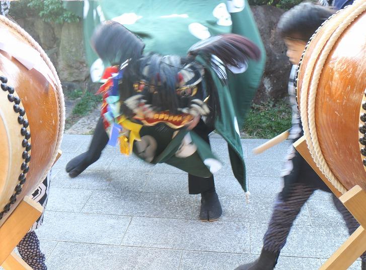 秋祭りの獅子舞 30 10 14