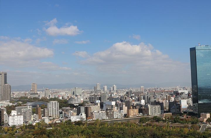 大阪城展望台から 30 10 25