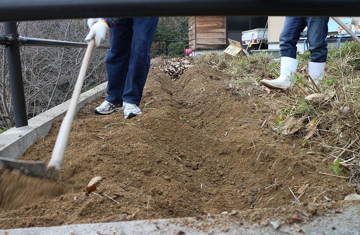 藤袴を植える所を作る 30 12 16