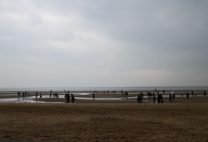 曇り雨の父母ヶ浜 17:00頃 30 12 23