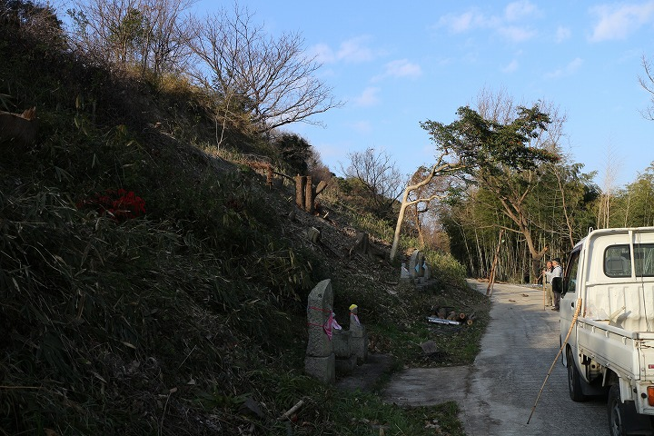 爺神山南側木を伐ってる 31 1 10