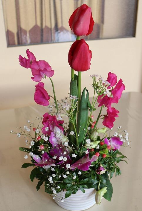 全体にはオアシスに入れられた花でした 31 1 23