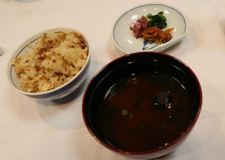 新年会炊き込みご飯シジミ汁 31 1 26