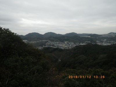 神武寺から二子山方面