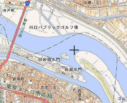 地図 北区岩渕水門
