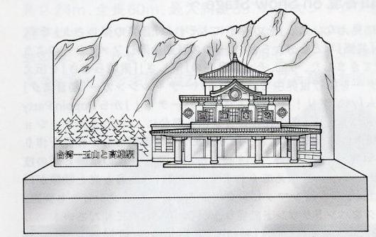 玉山と高尾駅1