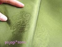 オクサ シルク 抹茶色 緑