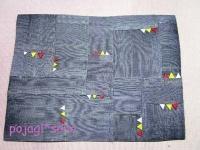 松の実飾り グレー ミニサイズ 敷物 マット