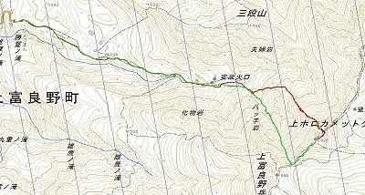カミホロ北西稜log