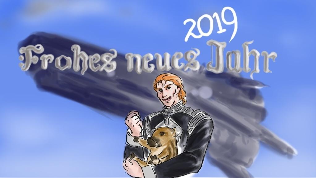 2019年賀イラスト