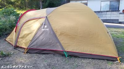 テント建てたよ