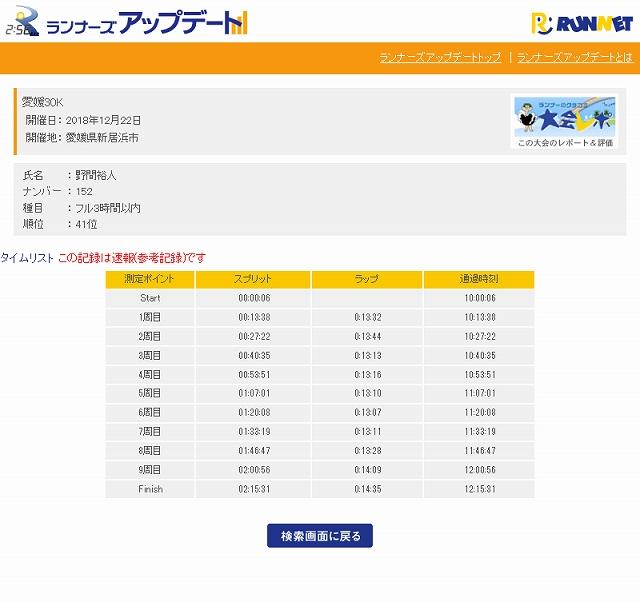 Screenshot_2018-12-24 愛媛30K - タイムリスト - ランナーズアップデート