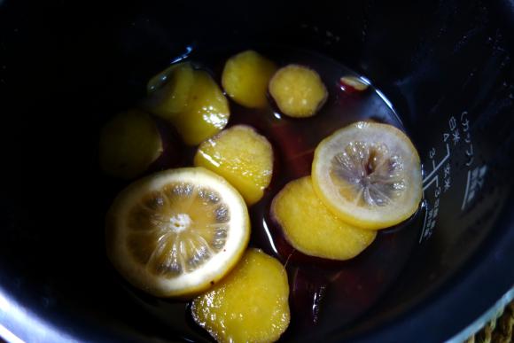 サツマイモのハチミツ檸檬煮05