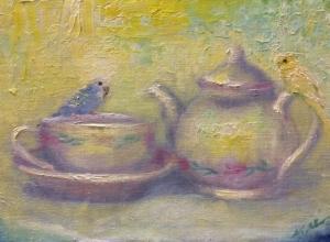 インコのお茶会