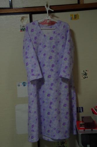 寝間着 中綿入りパジャマ生地
