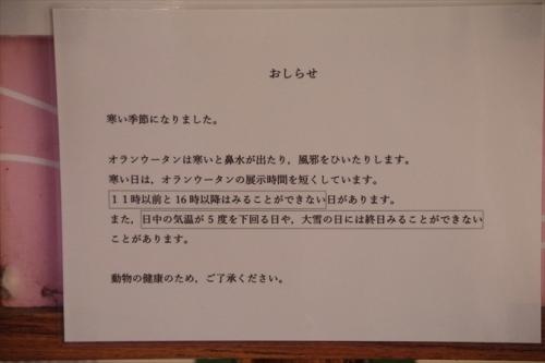 福岡市動物園 掲示