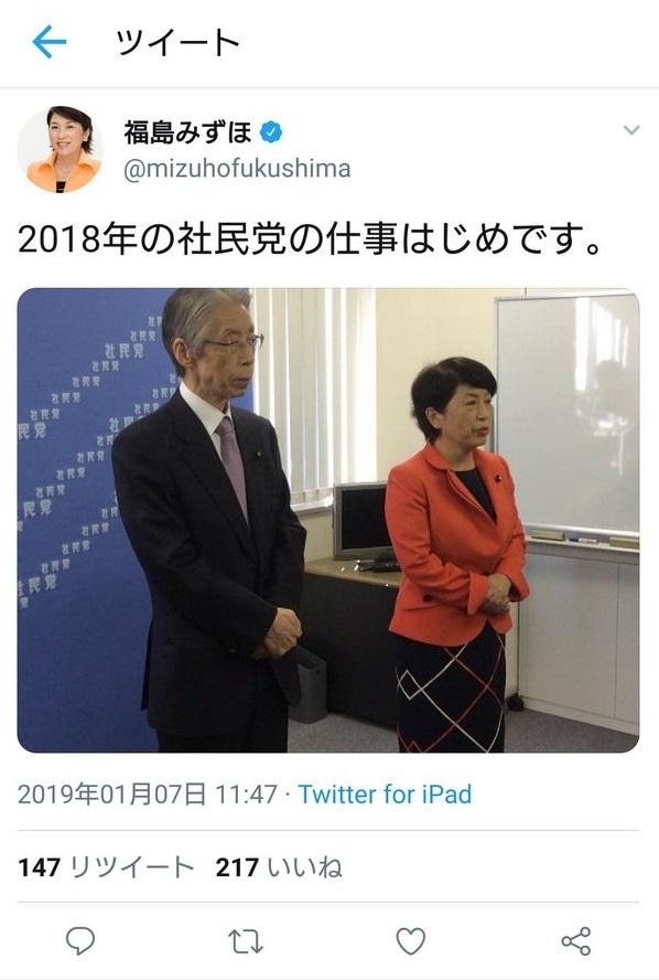 福島瑞穂 社民党 ツイッター