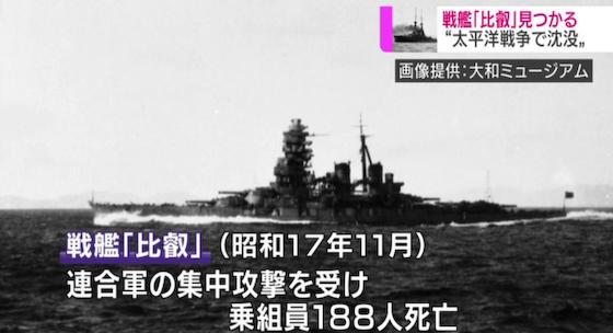 比叡 戦艦 鉄底海峡 旧日本軍 ポール・アレン サボ島