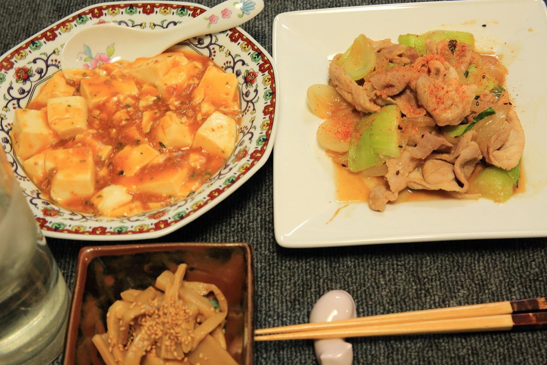 ブログ 豚味噌チンゲン菜とマーボ.jpg