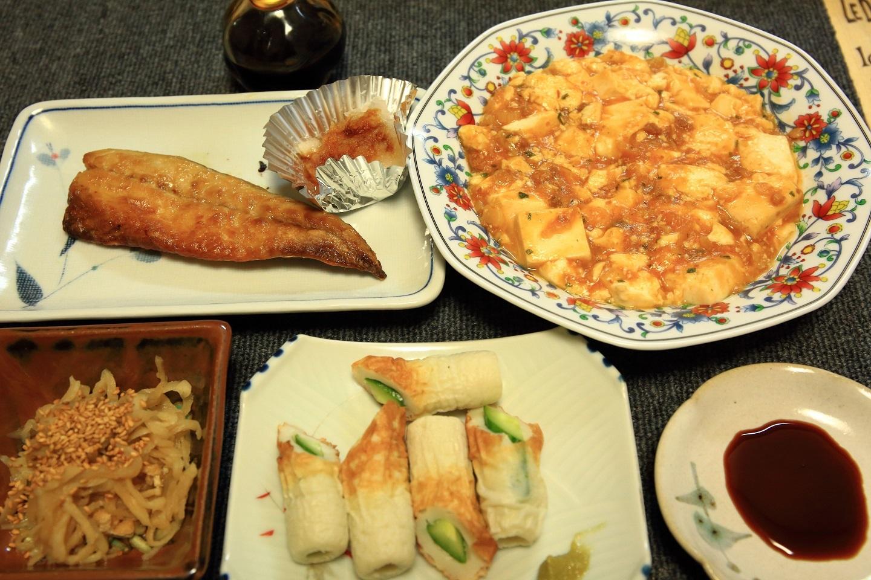 ブログ 地味なオジサン料理 マーボ、塩サバなど.jpg