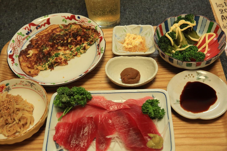 ブログ 夕食 お刺身とこまめに色々.jpg