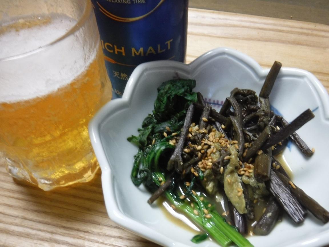 ブログ 夕食 晩酌のお供、ワラビの煮物.jpg