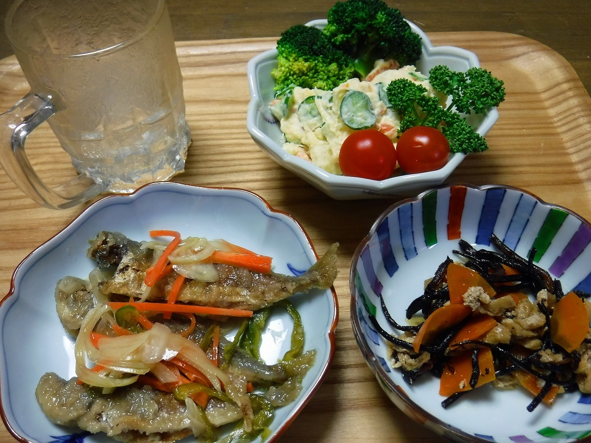 ブログ 鯵南蛮の夕食.jpg