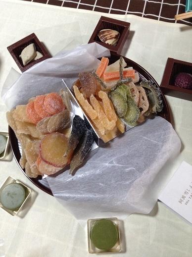 野菜の菓子と手作りチョコ